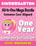 KINDERGARTEN All-In-One *MEGA BUNDLE* {1 Year Complete Curriculum & CC Aligned}
