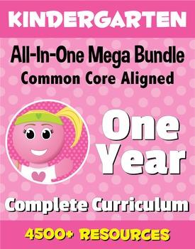 KINDERGARTEN All-In-One *MEGA BUNDLE* {1 Year Complete Curriculum & CC Aligned}