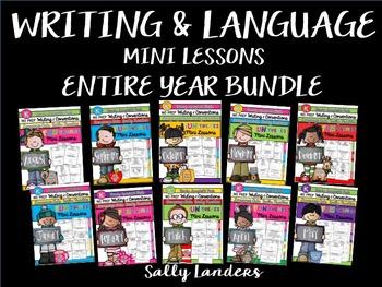 KINDERGARTEN BUNDLE ~ Year of Writing & Language Mini Lessons