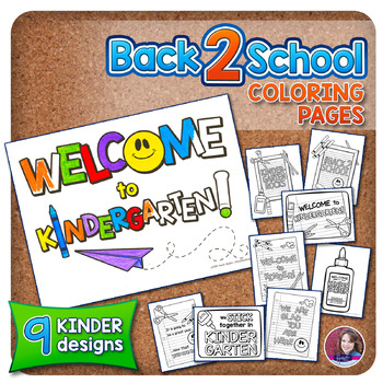 KINDERGARTEN Back to School Coloring Pages