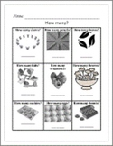 KINDERGARTEN CCSS Math Morning Work / Homework ~ 15 Page Worksheet Packet