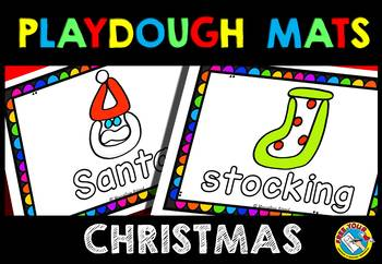 KINDERGARTEN CHRISTMAS ACTIVITIES (CHRISTMAS PLAYDOUGH MATS)