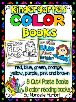 COLOR BOOKS -Color, cut & paste COLOR books (KINDERGARTEN)