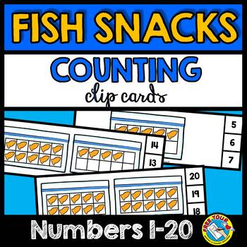 KINDERGARTEN COUNTING ACTIVITIES (TEN FRAME FISH SNACK COUNTING CLIP CARDS)