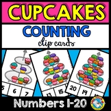 KINDERGARTEN COUNTING CENTER (CUPCAKES COUNTING CLIP CARDS