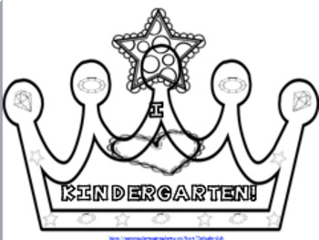 KINDERGARTEN CROWNS~ LET'S CELEBRATE!