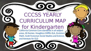 kindergarten curriculum map all subjects by michelle. Black Bedroom Furniture Sets. Home Design Ideas