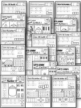 KINDERGARTEN MATH WORKSHEETS-Daily Math practice worksheets-NUMBERS 1-10