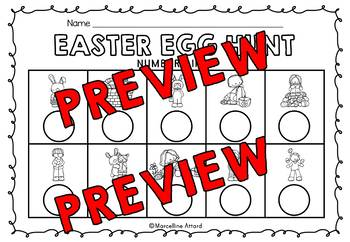 KINDERGARTEN EASTER ACTIVITIES (EASTER COUNT THE ROOM) EASTER EGG HUNT ACTIVITY