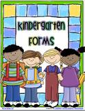 KINDERGARTEN - First Day of School Forms