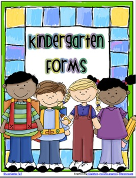 KINDERGARTEN - First Day of School Forms
