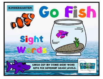 KINDERGARTEN GO FISH SIGHT WORDS GAME
