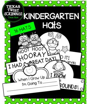 KINDERGARTEN HATS, CROWNS for all school year! {Texas Twist Scribbles}