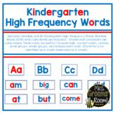 KINDERGARTEN HIGH FREQUENCY WORD CARDS