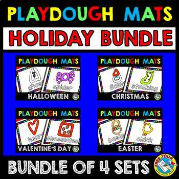 KINDERGARTEN HOLIDAY ACTIVITIES (HOLIDAY PLAYDOUGH MATS BUNDLE)