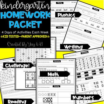 original 4703271 1 - Kindergarten Homework Packet Pdf