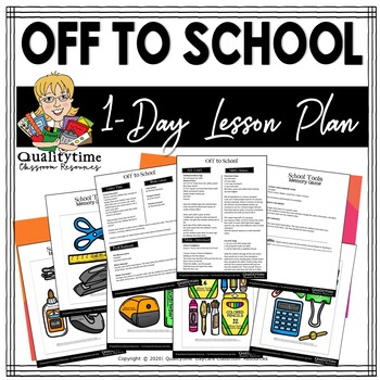 OFF TO SCHOOL - Pre-K Preschool Kindergarten Lesson-
