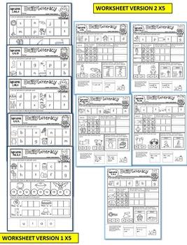 KINDERGARTEN CVC practice worksheets-Set 3 (CVC, SIGHT WORDS, MIDDLE sounds)