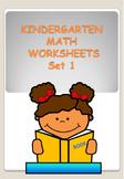 KINDERGARTEN MATH WORKSHEETS SET 1 - BACK TO SCHOOL