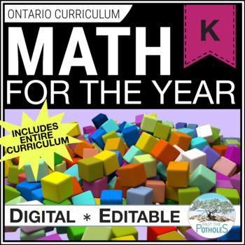 KINDERGARTEN MATH for the ENTIRE YEAR - lessons, assessment, activities