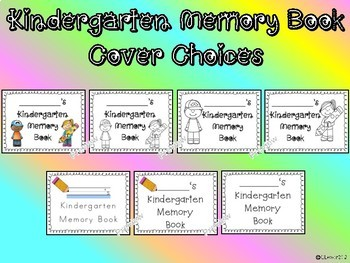 Kindergarten Memory Book End of Year Writing Keepsake Book