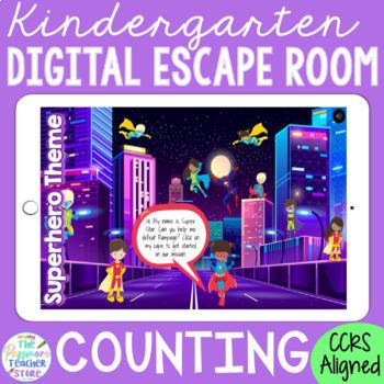KINDERGARTEN Math Digital Escape Room Game - Counting