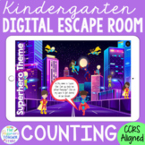 KINDERGARTEN Math Digital Escape Room Game - Counting   Di