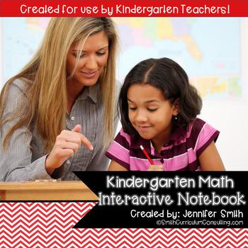 KINDERGARTEN Math Interactive Notebook Bundle- Activities for Young Math Minds