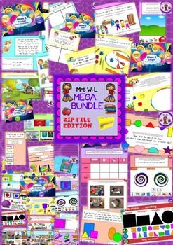 KINDERGARTEN Maths Smart Notebook and Unit of Work Other Strand MEGA BUNDLE 1