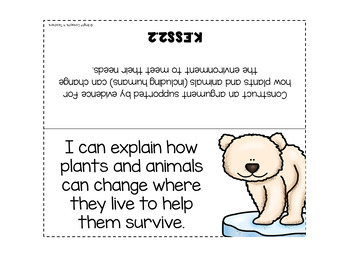 """KINDERGARTEN NGSS """"I Can"""" Standards Posters + Checklists"""
