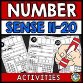 KINDERGARTEN NUMBER SENSE ACTIVITIES OR WORKSHEETS (11-20)