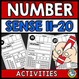 KINDERGARTEN NUMBER SENSE ACTIVITIES OR WORKSHEETS (11-20)