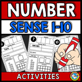 KINDERGARTEN NUMBER SENSE WORKSHEETS OR ACTIVITIES