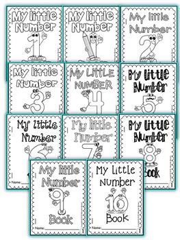 NUMBER BOOKS  (FOLD-ABLE MINI NUMBER BOOKS FOR 1-10)
