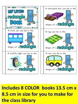 PLANE SHAPES BOOKS -Color, cut & paste 2D SHAPES books (KINDERGARTEN )