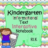 KINDERGARTEN READING INFORMATIONAL TEXT INTERACTIVE NOTEBOOK AND ANCHOR CHARTS!