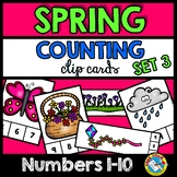 SPRING PRESCHOOL COUNTING CENTERS NUMBERS 1-10 (SPRING ACTIVITIES KINDERGARTEN)