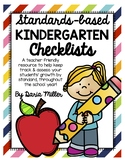 KINDERGARTEN STANDARDS-BASED CHECKLISTS! Color & BW!