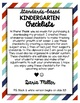 KINDERGARTEN STANDARDS-BASED CHECKLISTS! Color & BW!