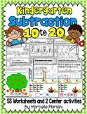 SUBTRACTION WORKSHEETS-SUBTRACTION WORKSHEETS FOR KINDERGARTEN (10-20)