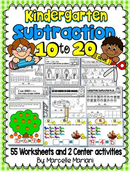 SUBTRACTION WORKSHEETS-SUBTRACTION WORKSHEETS FOR KINDERGA