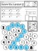 KINDERGARTEN Trace, Write, Dab or Color Numbers- Math Practice Worksheets (1-20)