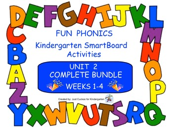 FUN PHONICS, KINDERGARTEN UNIT 2, COMPLETE BUNDLE (WEEKS 1-4)