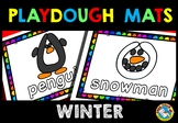 KINDERGARTEN WINTER ACTIVITY PRESCHOOL (WINTER PLAYDOUGH MATS) WINTER VOCABULARY