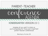 KINDERGARTEN parent-teacher conference agenda (option #2!) :)