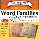 KINDERGARTEN -word families-learning all about them