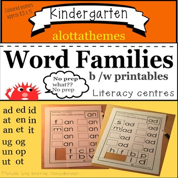 CVC Word families-learning to read and write!!