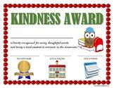 """KINDNESS AWARD"" for Primary School Kids!  CLASSROOM AWARD SERIES"
