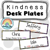 KINDNESS Editable Desk Name Tags / Desk Plates