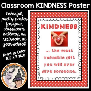 KINDNESS Most Valuable GIFT poster Back to School BE KIND motivational theme